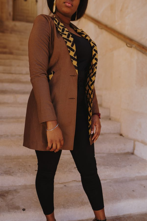 veste longue customisée en wax1