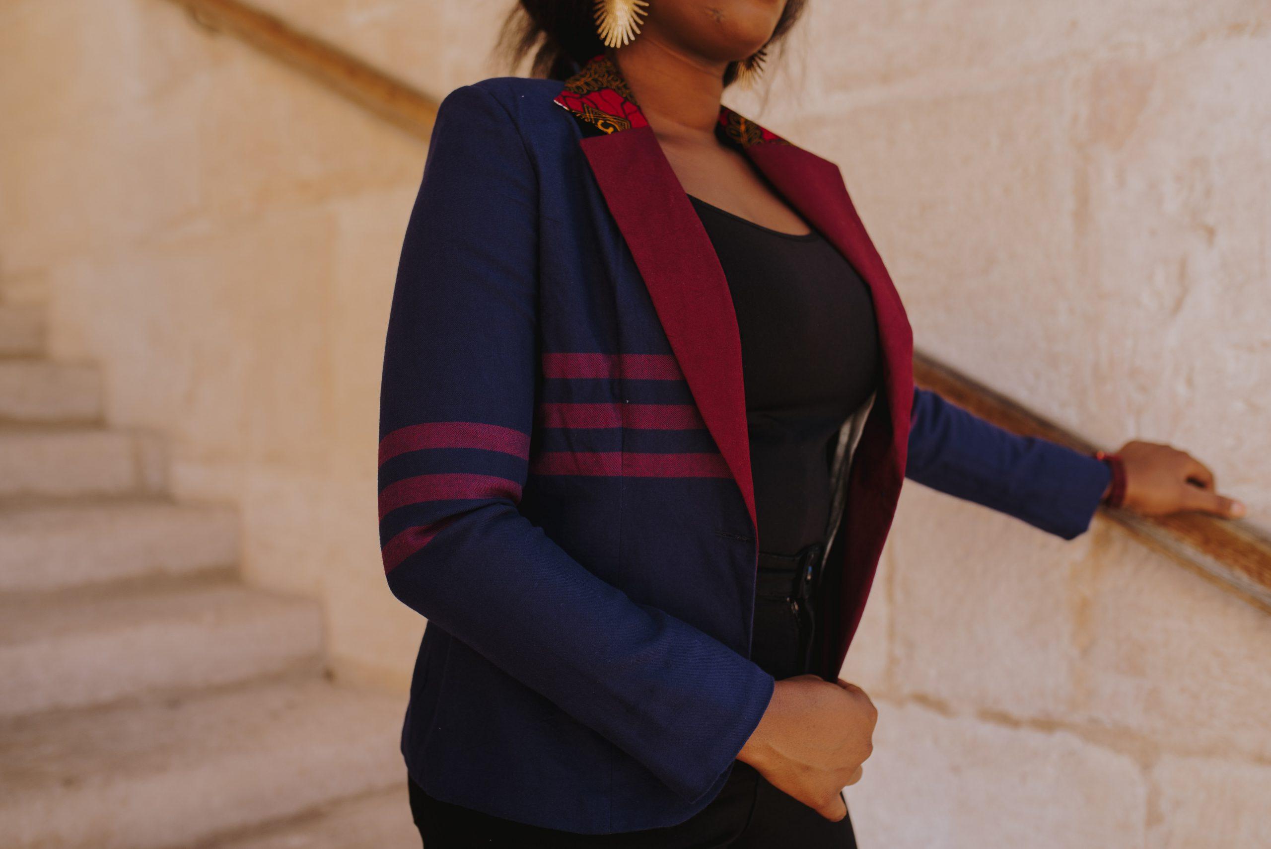 blazer intemporel bicolore