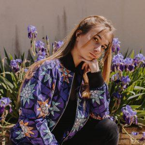 bomber floral violet en_Wax