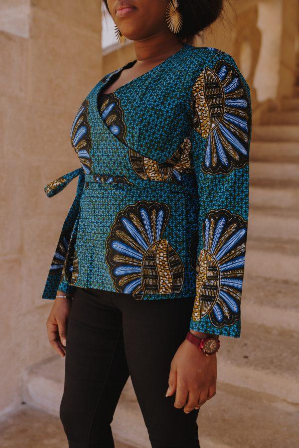 blouse intempelle bleue