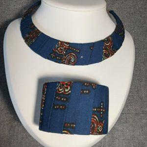Bijoux uniques de createur en tissu Wax : mode africain -J&S