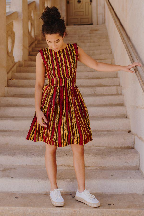 robe de createur en tissu Wax