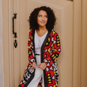 Kimono imprimé Wax coloré