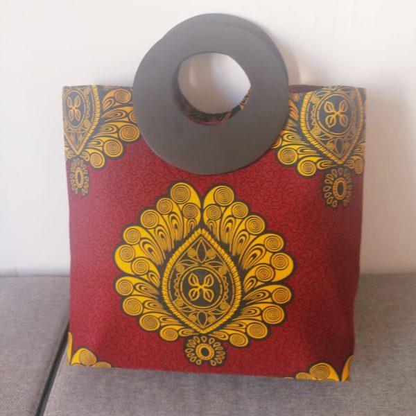 sac à main rouge bordeaux