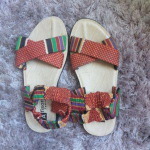 sandales en wax pour les filles