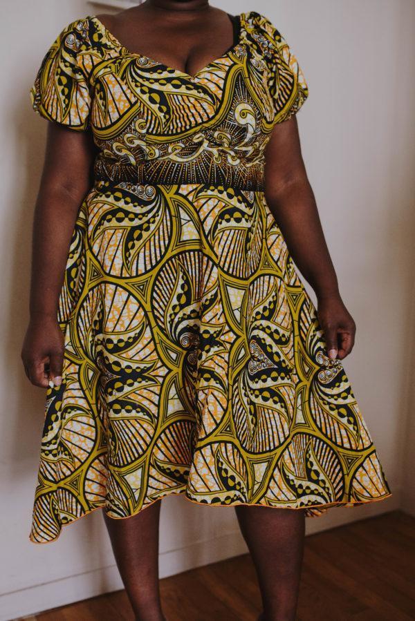 Robe Wax femme élégante