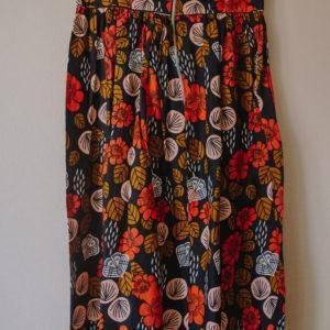 jupe-longue-florale Wax