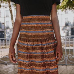 jupe intemporelle avec des rayures