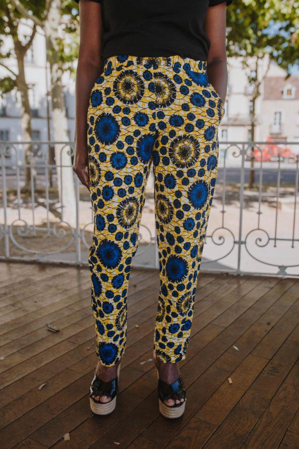 pantalon intemporel jaune en Wax