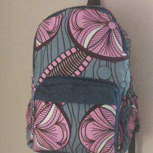 sac à dos en jean rose