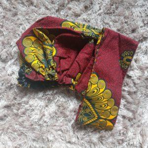 foulards en satin et en wax