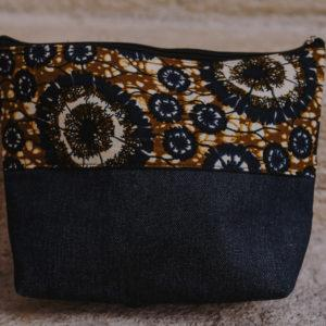 Pochette en denim et en wax n°5