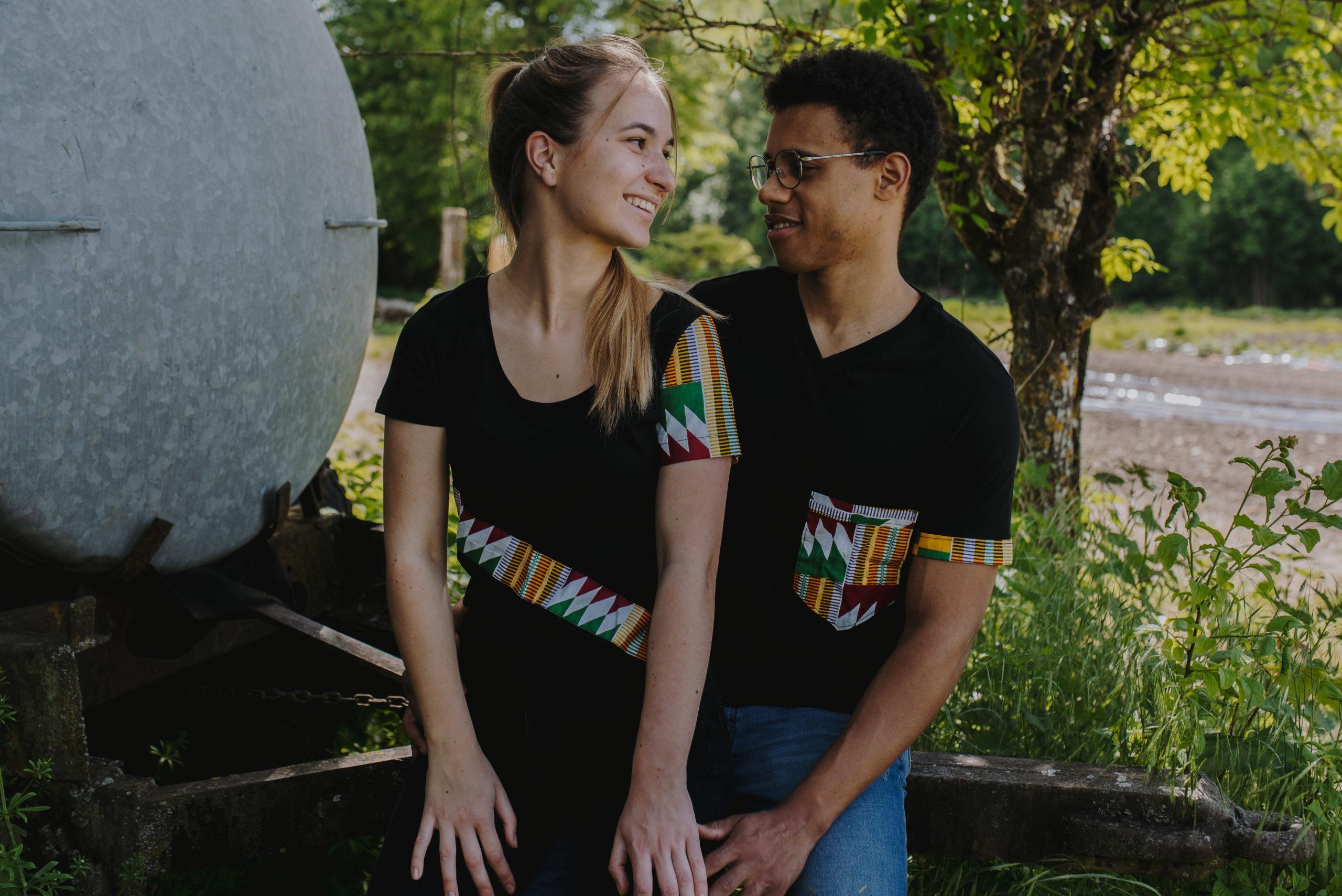 T-shirts customisés en wax