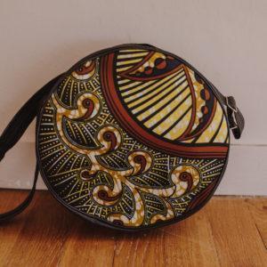 sac à bandoulière jaune Wax en similicuir