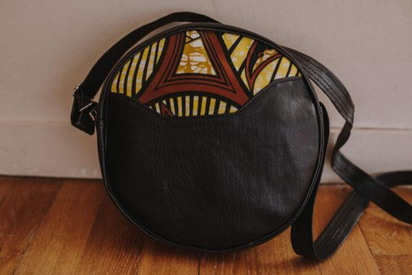sac à bandoulière jaune Wax