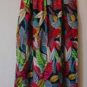 Jupe longue multicolore Wax