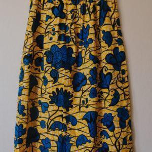 jupe longue jaune en wax