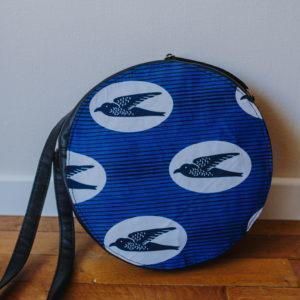 sac stylé bleu en wax