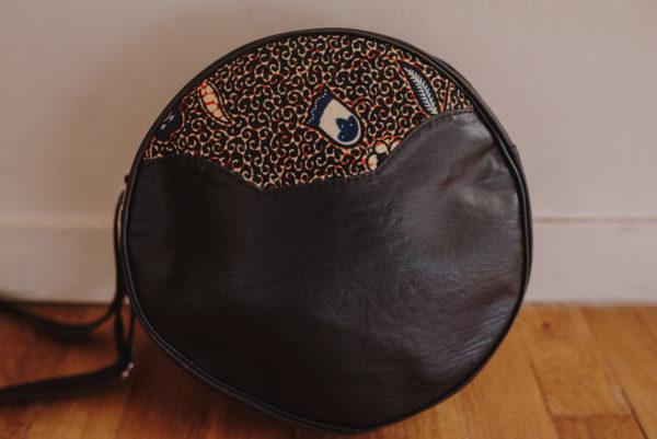 sac rond similicuir Wax