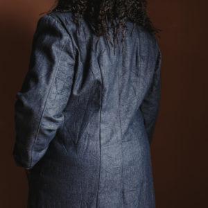 veste longue imprimé Wax lumière