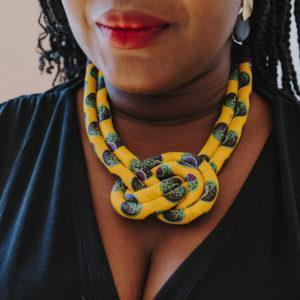 Collier Africantouch Wax jaune