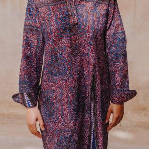 Robe chemise Wax violet