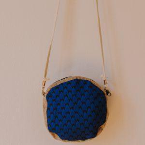 sac raphia wax bleu