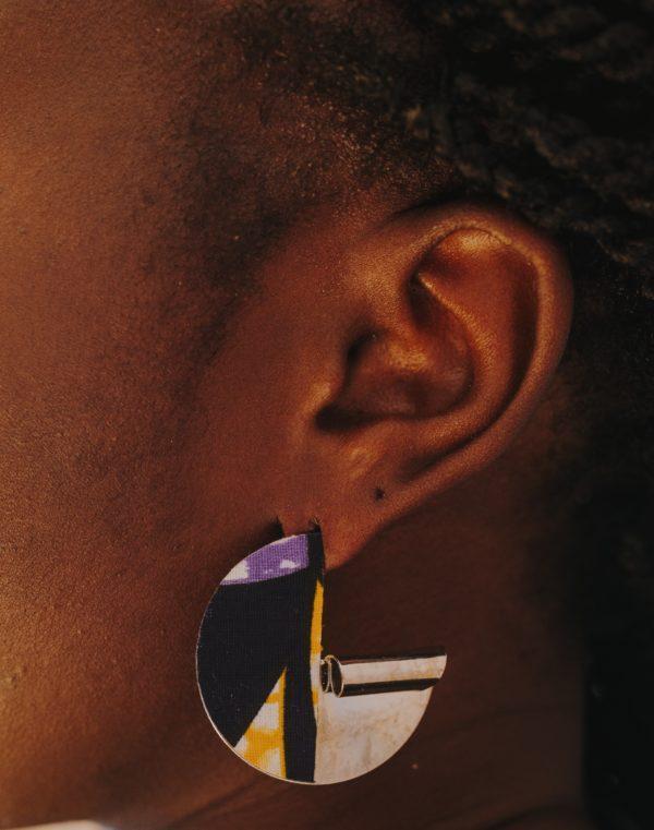 boucles d'oreilles Imprimées Wax